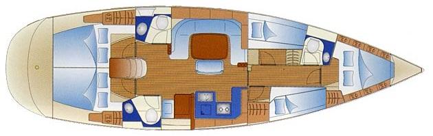 Bavaria 49 - 5 cabin